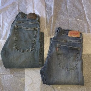 (2)pairs of boys Levi's 👖 jeans